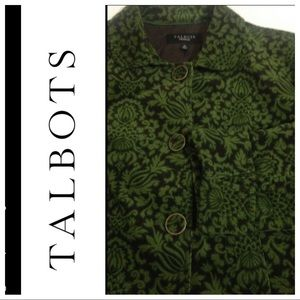 LN Talbots size 16 Brown & Green patterned Jacket